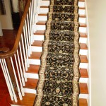 BLACK WOOL ORIENTAL STANTON STAIR RUNNER INSTALLED WITH RODS KANSAS CITY