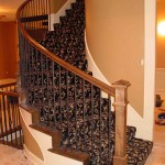 BLACK WOOL STAIR RUNNER INSTALLED IN OVERLAND PARK KANSAS