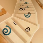 CONTEMPORARY CARPET INSTALLED ON STAIRS IN OVERLAND PARK KANSAS