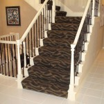 CONTEMPORARY STAIR RUNNER INSTALLED MISSION KANSAS