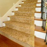 CUSTOM GOLD ORIENTAL STAIR RUNNER WITH EXTRA WOOL BORDER OLATHE KANSAS