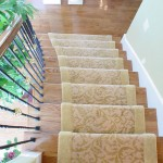 CUSTOM TRANSITIONAL STAIR RUNNER INSTALLED WITH EXTRA WOOL BORDER LAWERANCE KANSAS
