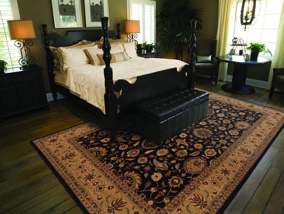comeron tradtional area rug master bedroom black