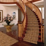 Custom Curved Stair Case with matching carpet