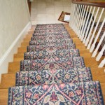 HAND KNOTTED ORIENTAL RUNNER INSTALLED ON STAIRS OVERLAND PARK KS