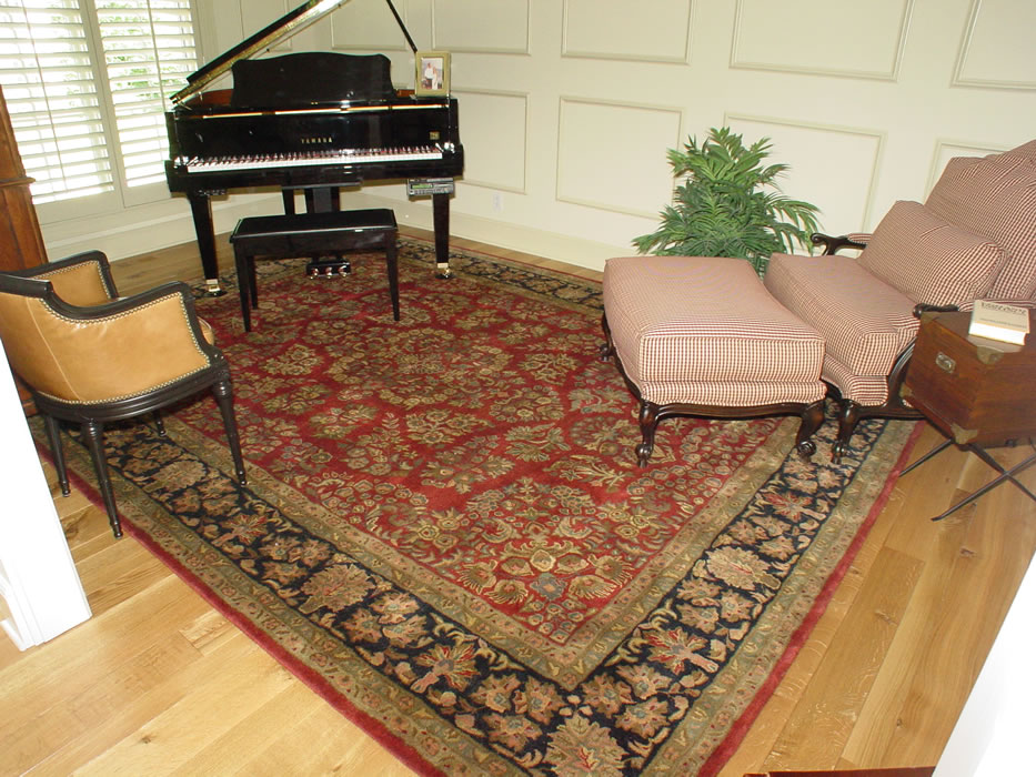 Hand Knotted Piano Room Oriental Rug Olathe Kansas Area Rug