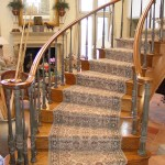 Kansas City Curved Stair Wool Roll Runner Wrapped