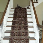LIGHT WOOL ORIENTAL STAIR RUNNER MISSION KANSAS