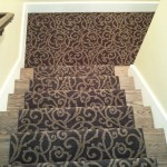 MASLAND BLACK CARPET INSTALLED ON STAIRS AS RUNNER IN LEAWOOD, KS