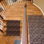 MASLAND TANGIER CARPET INSTALLED AS CUSTOM RUNNER ON STAIRS MISSION KANSAS