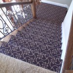 MASLAND TANGIER STAIR RUNNER INSTALLED LEAWOOD KANSAS