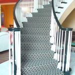 Masland Wool Carpet Curved Stair Case