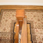 ORIENTAL STAIR RUNNER CONNECTED ON SPLIT LEVEL STAIR LANDING MISSION KANSAS