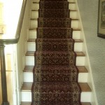 RED WOOL ROYAL DUTCH ORIENTAL STAIR RUNNER INSTALLED KANSAS CITY