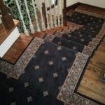 STANTON BLACK WOOL STAIR RUNNER INSTALLED KANSAS CITY KS