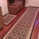 STANTON RUNNER INSTALLED IN HALL OVER HARDWOOD FLOORING WITH MATCHING 2 X 3 ORIENTAL RUG
