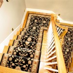 Split Stair case with Stanton wool roll runner