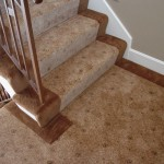 WOOL TRANSITIONAL STAIR RUNNER INSTALLED LEAWOOD KANSAS