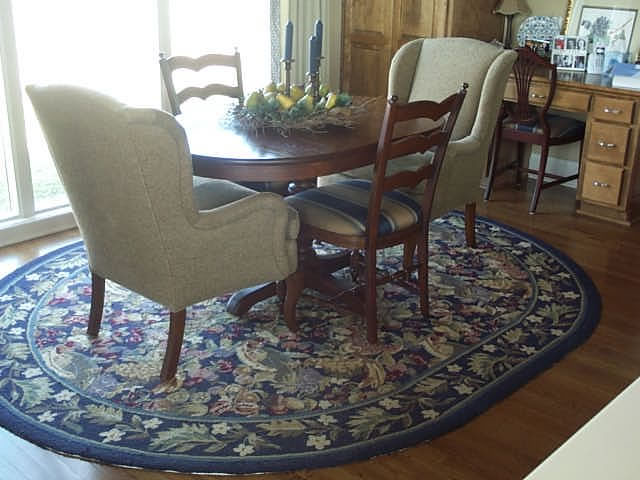 Custom Oval Hand Made Multi Color Kitchen Rug Kansas City