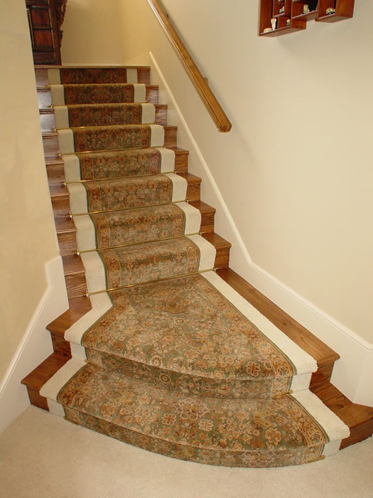 Custom Stair Runner Inside Wall Wall Carpet Overland Park