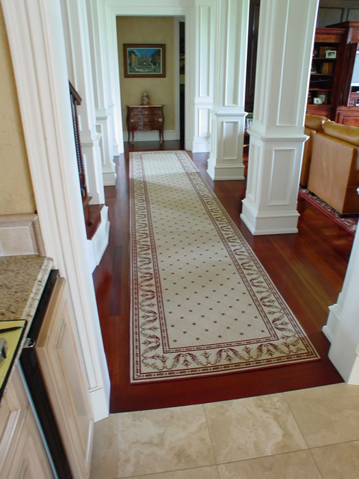 Custom Transitoinal Runner Overland Park Kansas Area Rug