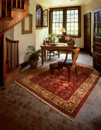 Oriental Rug On Tile Floor Area Rug