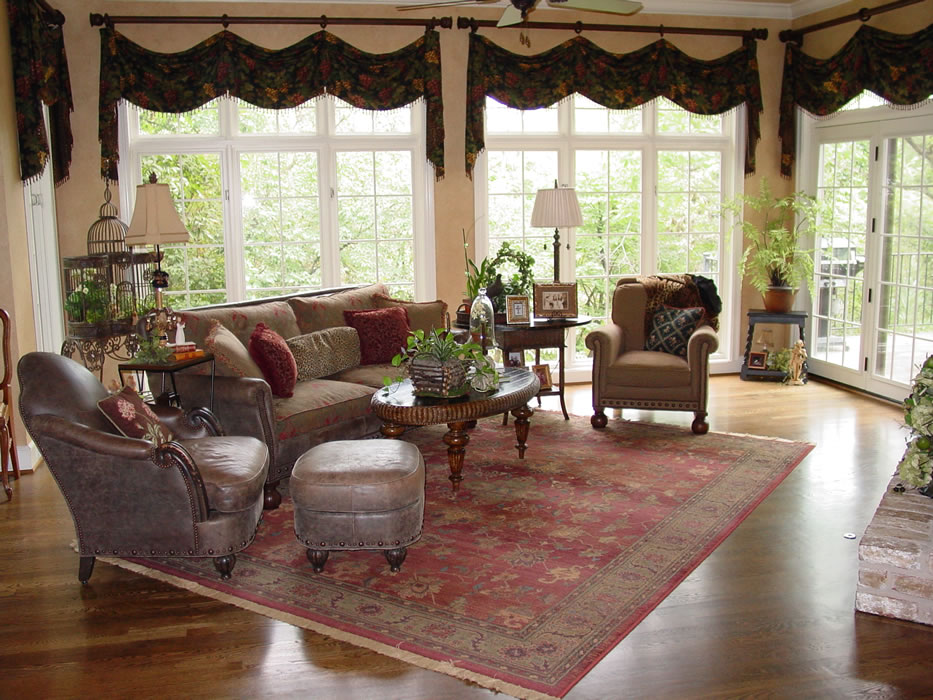 Oriental Rug Placed At An Angle And Properly Sized Area Rug