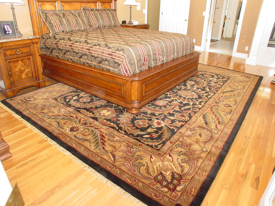 Oriental area rugs in kansas city overland park leawood for Rug in bedroom