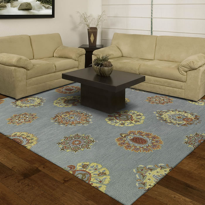 Simple Transitional Wool Area Rug Area Rug