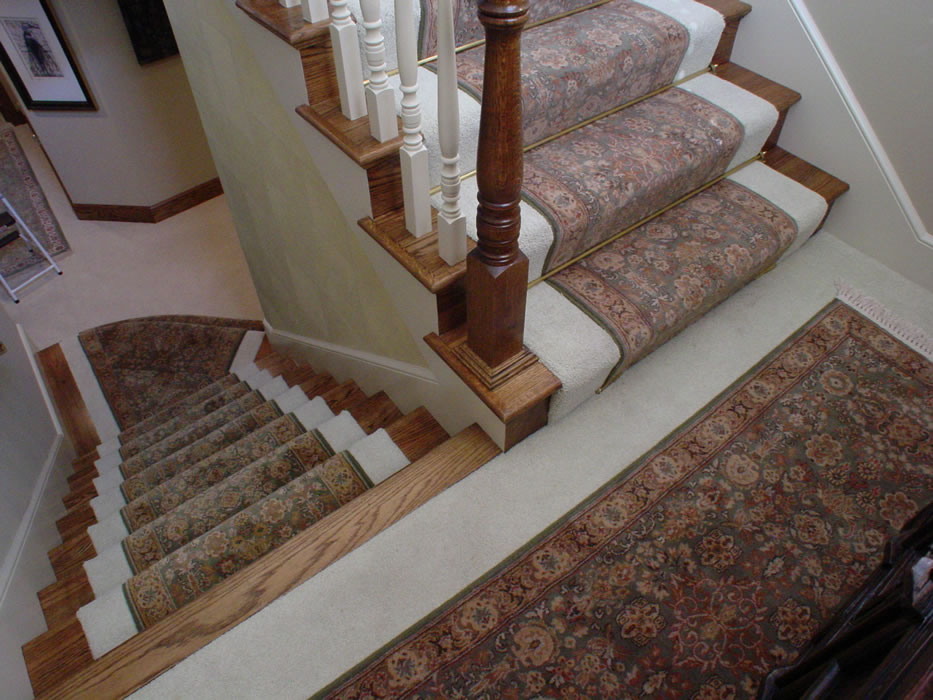 Stair Runner S With Matching Oriental Rug For Landing
