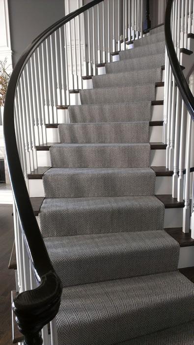 Transitional Stair Runner Leawood Kansas Area Rug